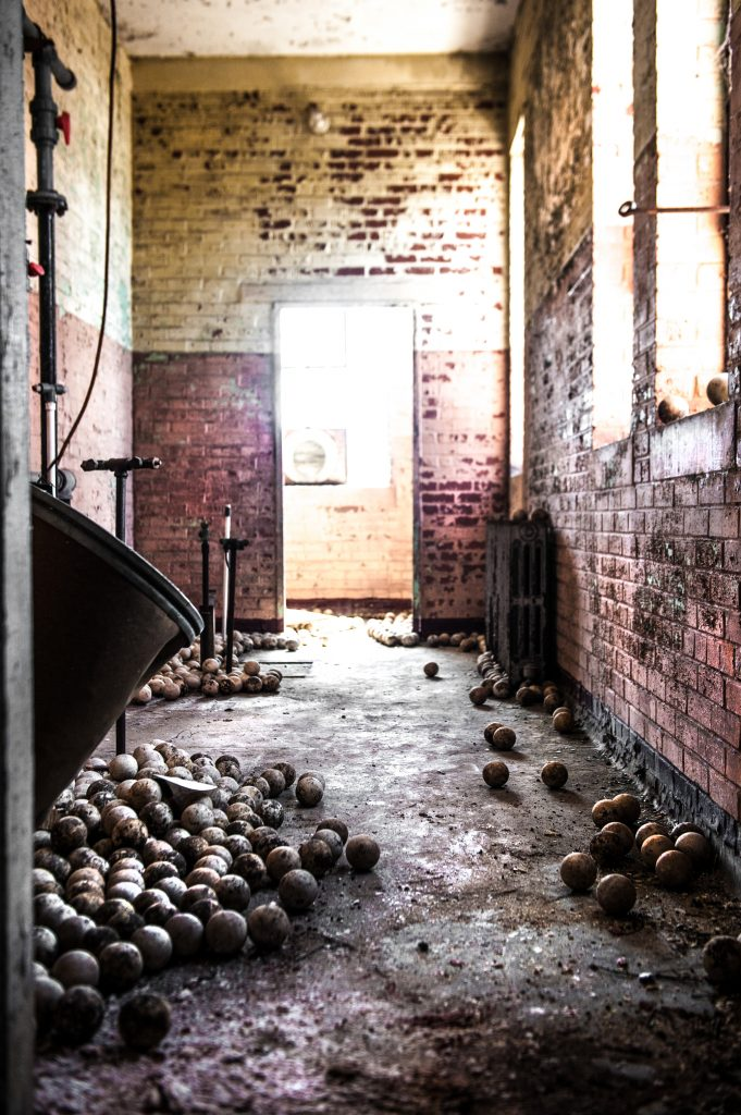 Balls - Raleigh Water works - Raleigh NC - Raleigh - Justin Driscoll - Urban Exploring, Urbex, Abandoned,