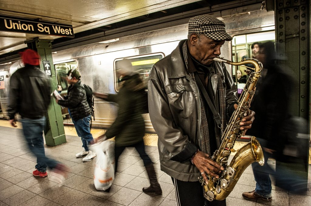 Saxophone, New York, NY, Subway, Justin Driscoll,