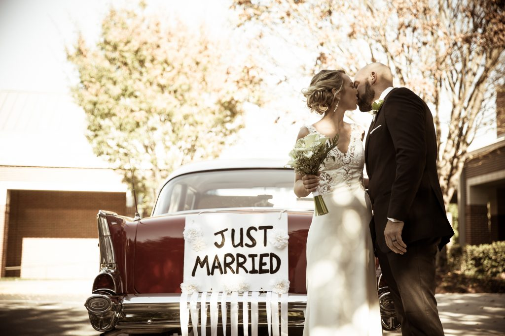 Just married - Charlotte NC - Charlotte - Wedding Photography - Wedding Photos - Justin Driscoll